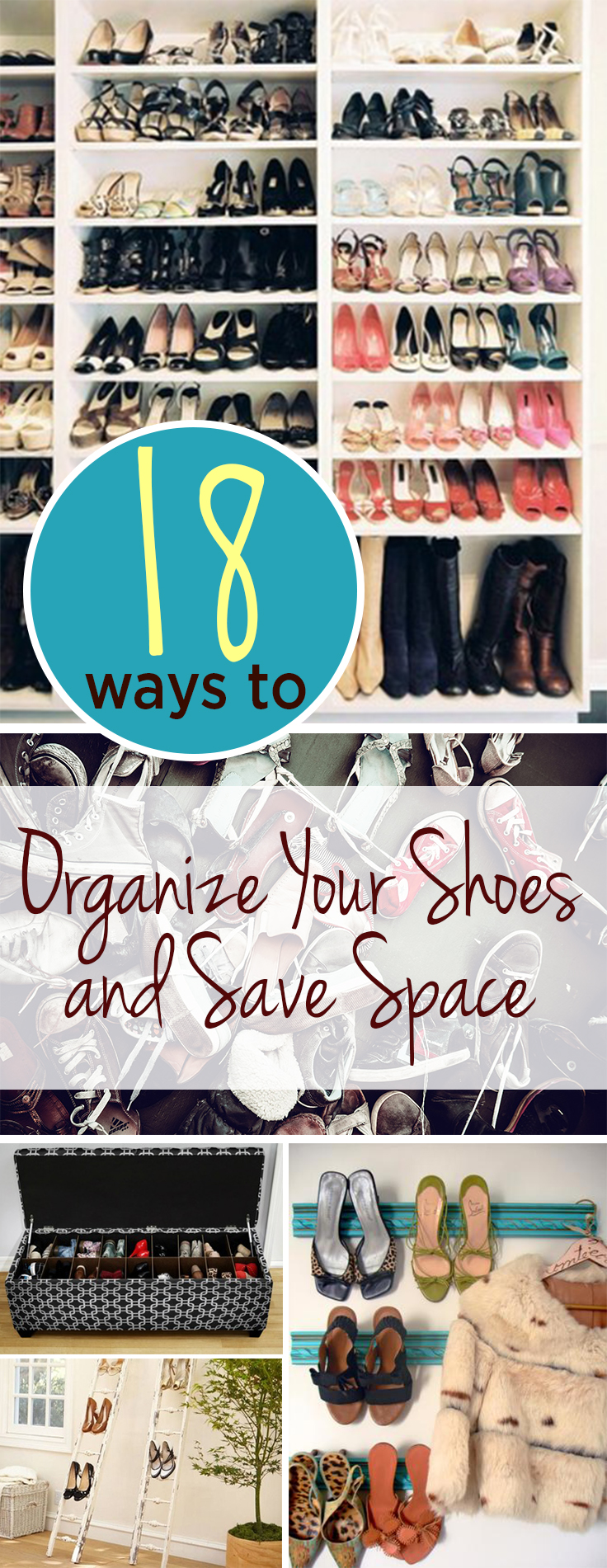 18 Ways to Organize Your Shoes and Save Space