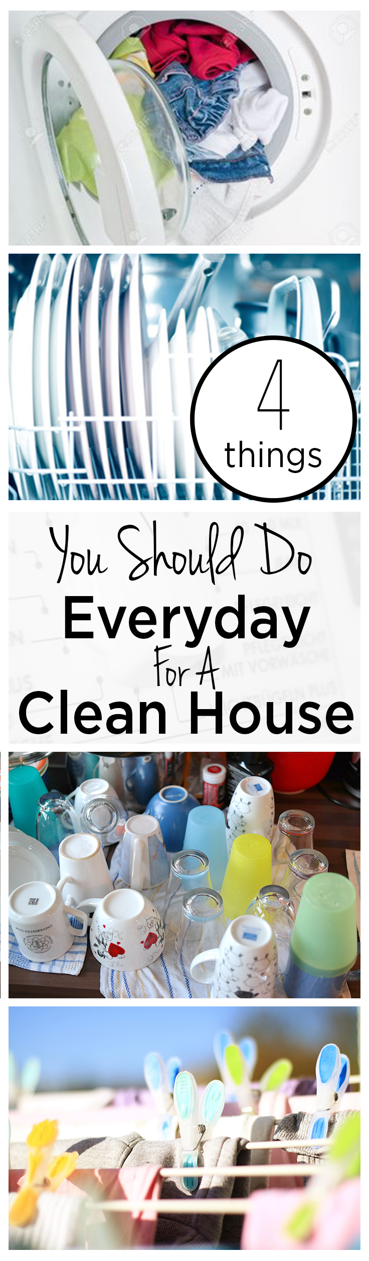 4 Things You Should Do Everyday For A Clean House