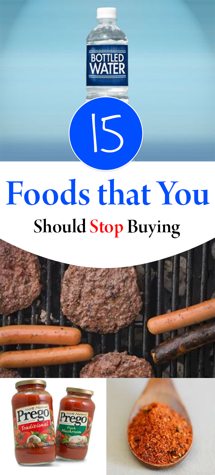 Foods to stop buying, money saving tricks, popular pin, money saving tips, frugal living, grocery shopping hacks.