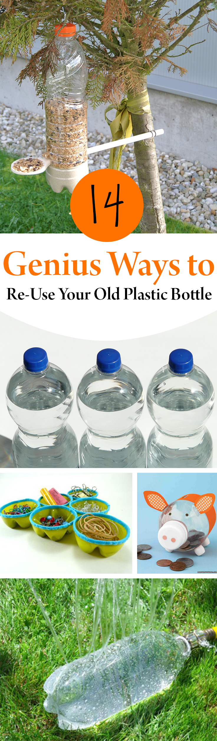 14 Genius Ways to Re-Use Your Old Plastic Bottle