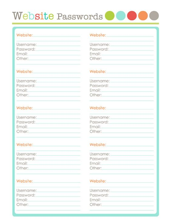 15 Printables Perfect for Organization14