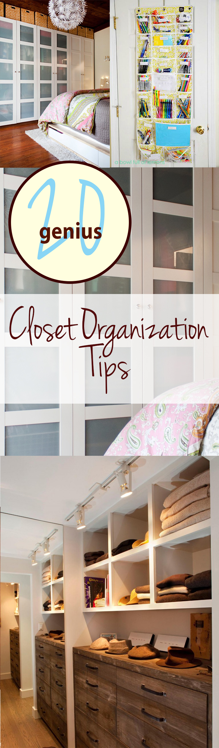 Closet Organization Tips 20 genius closet organization tips - wrapped in rust