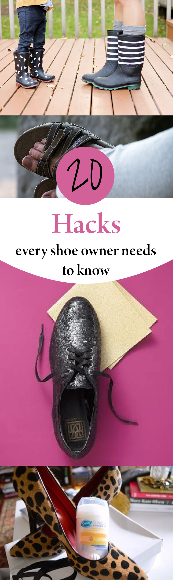 Shoe hacks, clothing hacks, how to repurpose clothing, popular pin, DIY clothing, easy clothing fixes, life hacks, life tips and tricks.