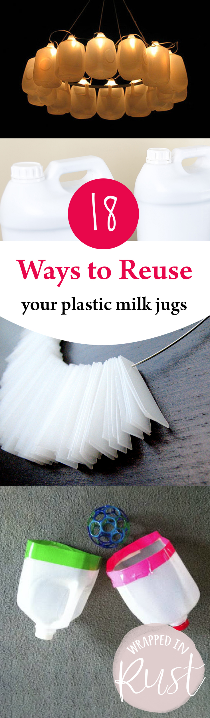 ways to reuse plastic milk jugs and bottles