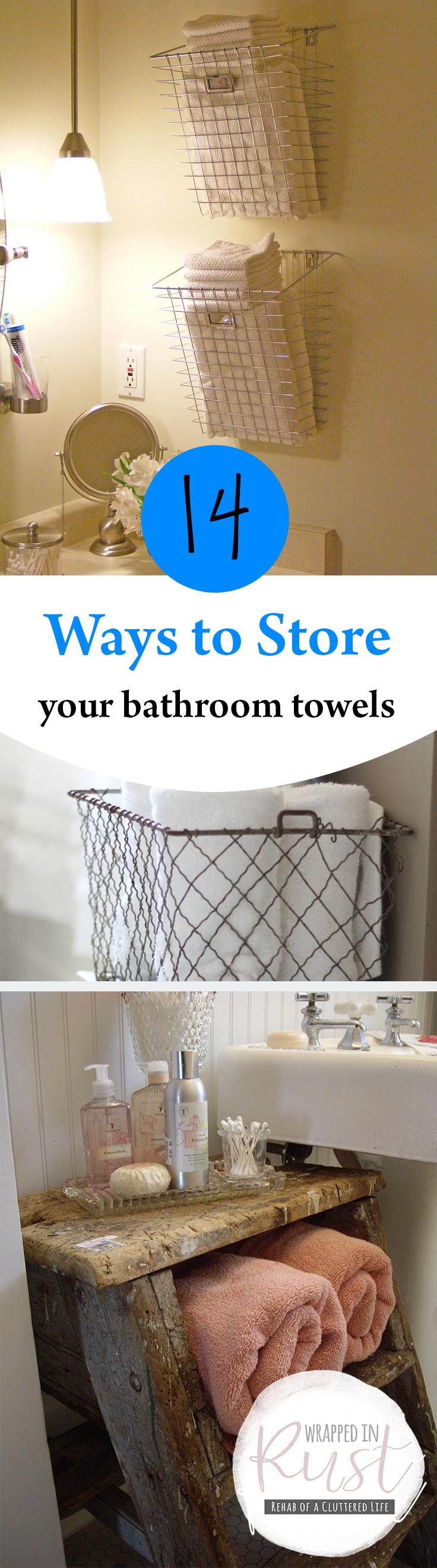 Bathroom, Bathroom Storage, How to Store Bathroom Towels, Unique Bathroom Storage Ideas, Small Bathroom Storage Ideas, Popular Pin, Bathroom Storage for Less, Bathroom Towels