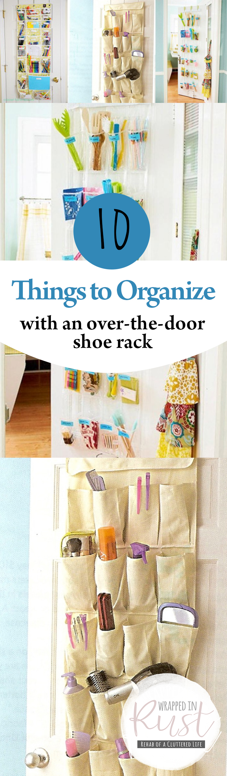 10 Things To Organize With An Over The Door Shoe Rack