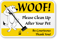 clean-up-be-courteous-sign-k-0423