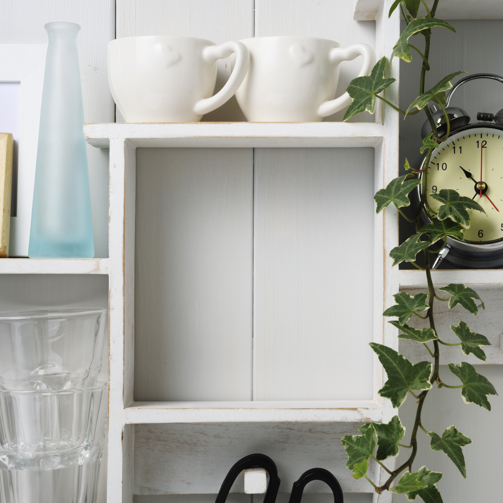 Convert an empty corner into a small appliance cubby. Here are some tips and tricks to hide your small appliances.
