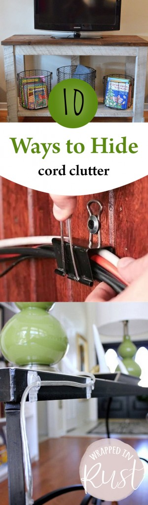 10 Ways to Hide Cord Clutter| Cord Clutter, How to Hide Cord Clutter, Cleaning, Clean Your Home, Home Cleaning Hacks, Home, Organize Cords, How to Organize Cords, Popular Pin