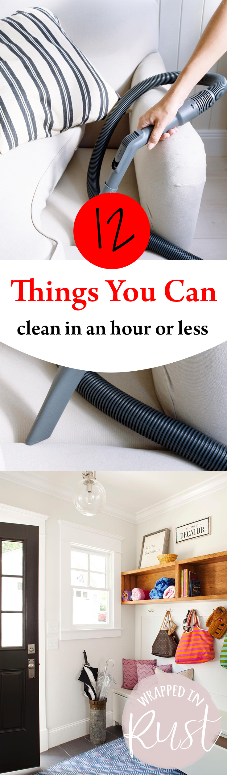 12 Things You Can Clean in an Hour or Less