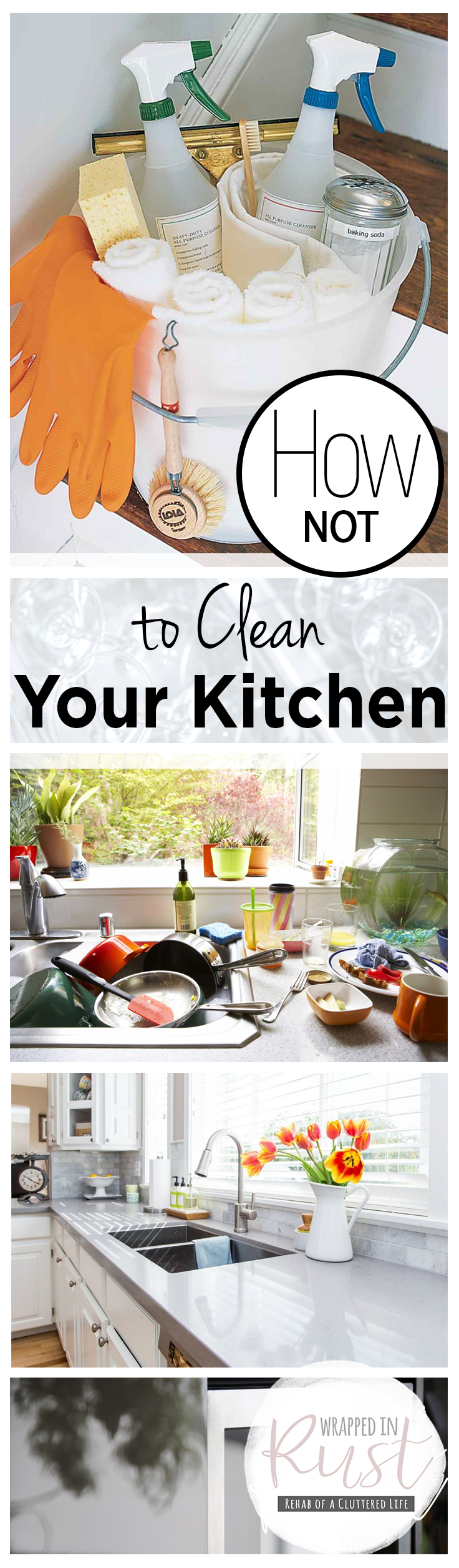 how not to clean your kitchen wrapped in rust
