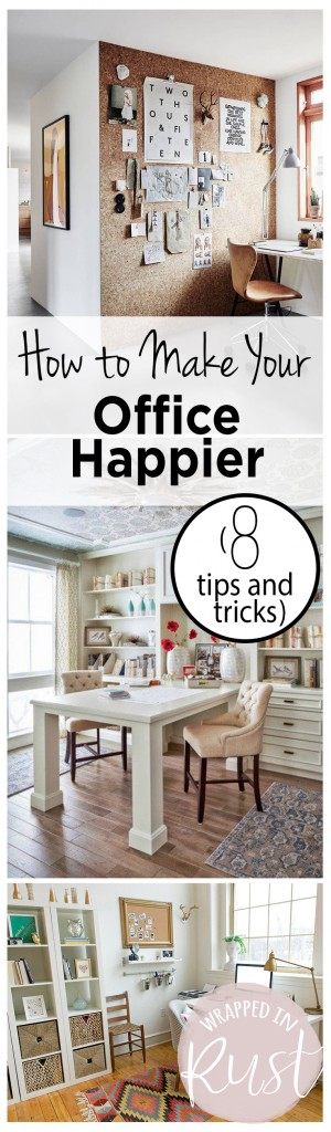 How to Make Your Office Happier (8 Tips and Tricks) Office, Office Decor, How to Make Your Office Happier, Life Hacks, Home Design Tips, Home Tips and Tricks, Home Improvement, Interior Design, Popular Pin
