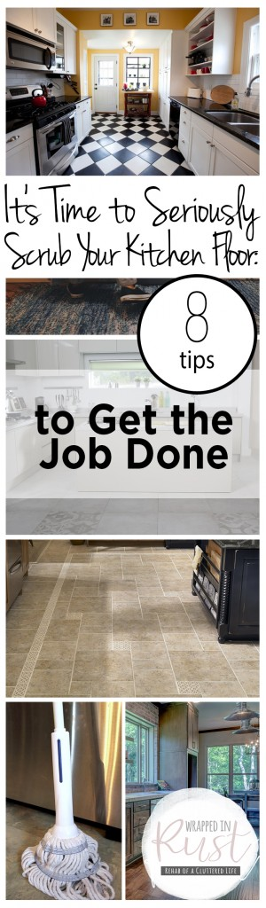 It's Time to Seriously Scrub Your Kitchen Floor: 8 Tips to Get the Job Done| How to Clean Your Floor, How to Quickly Clean Your Flooring, Fast Ways to Clean Flooring, Clean Home, Home Cleaning Tips and Tricks, Cleaning Hacks