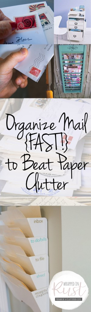 Organize Mail {FAST!} to Beat Paper Clutter| How to Organize Mail, Organizing Your Mail, Organization, Organization Tips and Tricks, Organize Paper Clutter, How to Get Rid of Paper Clutter, Popular Pin