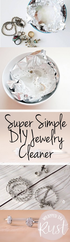 Super Simple DIY Jewelry Cleaner| Jewelry Cleaner, How to Clean Jewelry, Fast Ways to Clean Jewelry, Quickly Clean Jewelry, Easy Ways to Clean Jewelry.