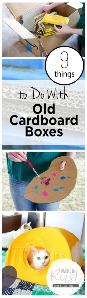 9 Things to Do With Old Cardboard Boxes| How to Reuse Cardboard Boxes, Fast Ways to Reuse Old Cardboard Boxes, DIY Home, Repurpose Projects, Easy Repurpose Projects, Old Cardboard Boxes, Popular Pin