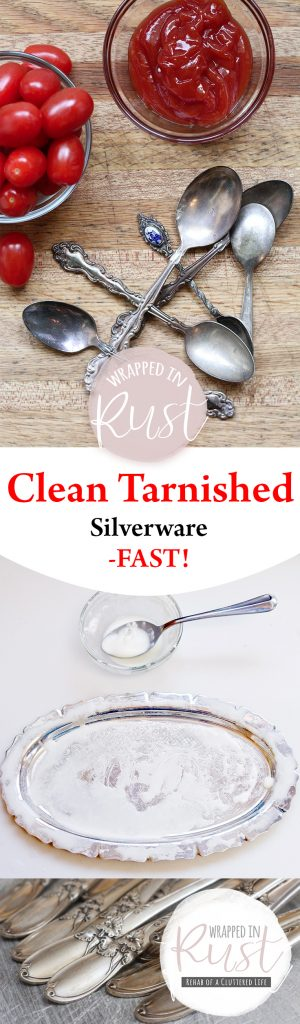 Clean Tarnished Silverware–FAST! Clean Silverware, How to Clean Tarnished Silverware, Cleaning Tarnished Silverware, How to Remove Tarnished Silverware, How to Clean Silver, Cleaning Silver, Popular Pin