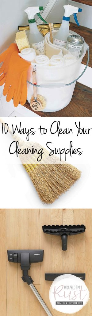 Cleaning, Cleaning Hacks, Cleaning Tips and Tricks, Cleaning Home, Clean Home Tips and Tricks, How to Clean Your Cleaning Supplies, DIY Cleaning, Popular Pin