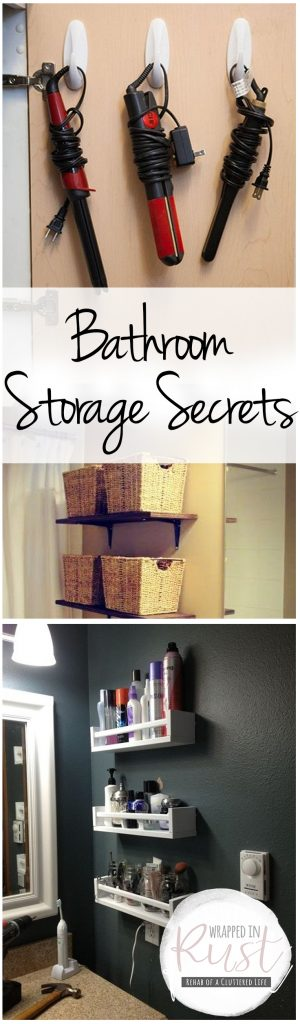 Bathroom Storage, Bathroom Storage Secrets, Storage Hacks, Bathroom Storage Ideas, How to Organize Your Bathroom, How to Create Storage Space In the Bathroom, DIY Home