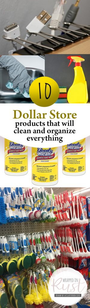 10 Dollar Store Products That Will Clean and Organize Everything| Organize Everything, Home Organization, Dollar Store Organization, Dollar Store Organization Hacks, Clutter Free Living, Home Organization Hacks. #DollarStore #Organization #DollarStoreOrganization