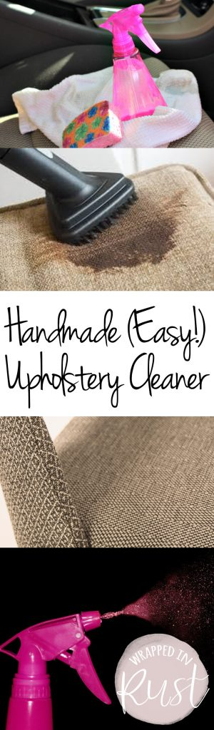 Handmade (Easy!) Uphosltery Cleaner| Upholstery Cleaner, Cleaning, Cleaning Tips and Tricks, Homemade Upholstery Cleaner, Homemade Cleaners, Cleaning Products #Cleaning #UpholsteryCleaning #CleaningProducts