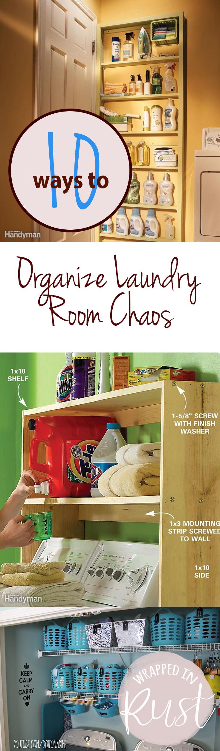 10 Ways To Organize Laundry Room Chaos  Organize Laundry Rooms, How To Organize  Laundry