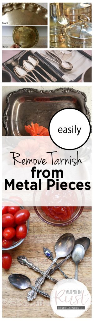 Easily Remove Tarnish from Metal Pieces| Remove Tarnish, Metal Care, Metal Care, Cleaning, Cleaning Hacks, Cleaning Tips and Tricks #Cleaning #CleanMetal