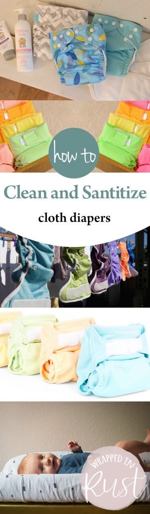How to Clean and Santitize Cloth Diapers| Clean Cloth Diapers, How to Clean Cloth Diapers, Santitize Cloth Diapers, Cleaning, Cleaning Hacks #Clean #CleanClothDiapers