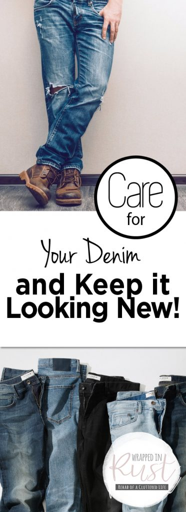 Care for Your Denim and Keep it Looking New!| These clothing care tips will have your jeans looking like new for years to come! #ClothingCare #CareforClothes #LaundyHacks