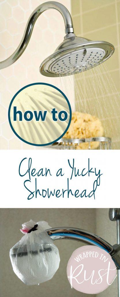 How to Clean a Yucky Showerhead|  Showerhead Cleaning, Showerhead Cleaning Ideas, Showerhead Cleaner, Cleaning, Cleaning Tips, Cleaning Hacks, Cleaning Schedule #ShowerHeadCleaning #ShowerheadCleaner #Cleaning #CleaningTips #CleaningHacks