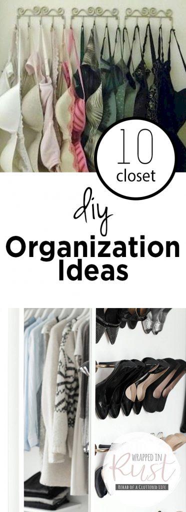 10 Closet DIY Organization Ideas| Organization, DIY Organization, Closet Organization, Closet Organization Ideas, Home Organization Ideas, Organization Ideas for the Home, Organization DIY, Organization Home