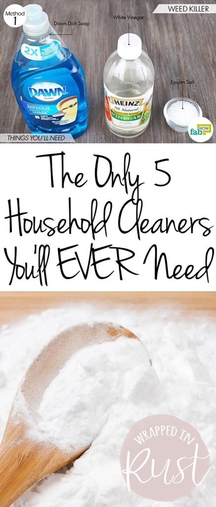 The Only 5 Household Cleaners You'll EVER Need| Cleaning, Cleaning Hacks, Household Cleaners, Household Cleaning Hacks, Easy Cleaning Hacks, DIY Household Cleaners, Household Cleaners DIY