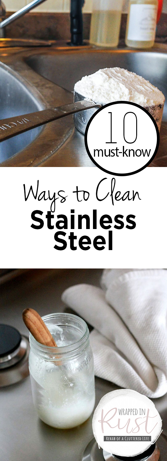 how to clean stainless steel silverware rust