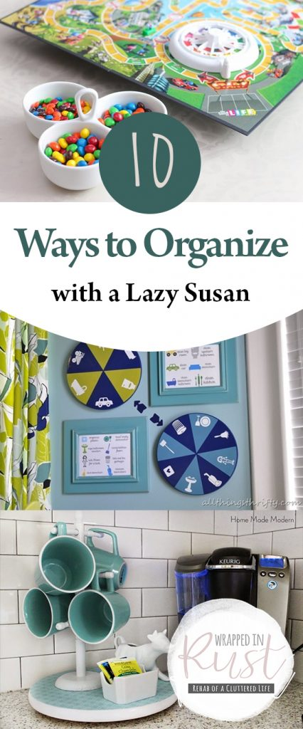 10 Ways to Organize With a Lazy Susan | Organization, Organization Ideas for the Home, Organization DIY, Organize, Organize Closet