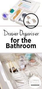 drawer organizer, bathroom drawer organizer, how to organize your drawers, bathroom organization