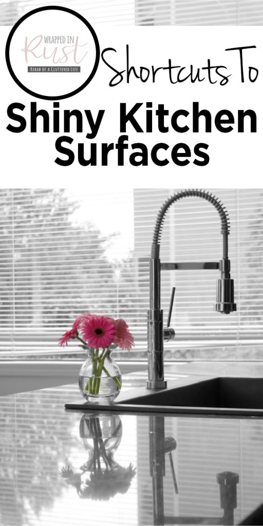 shortcuts to shiny kitchen surfaces   cleaning   cleaning tricks   cleaning hacks   kitchen   clean kitchen   appliances   countertops   cabinets