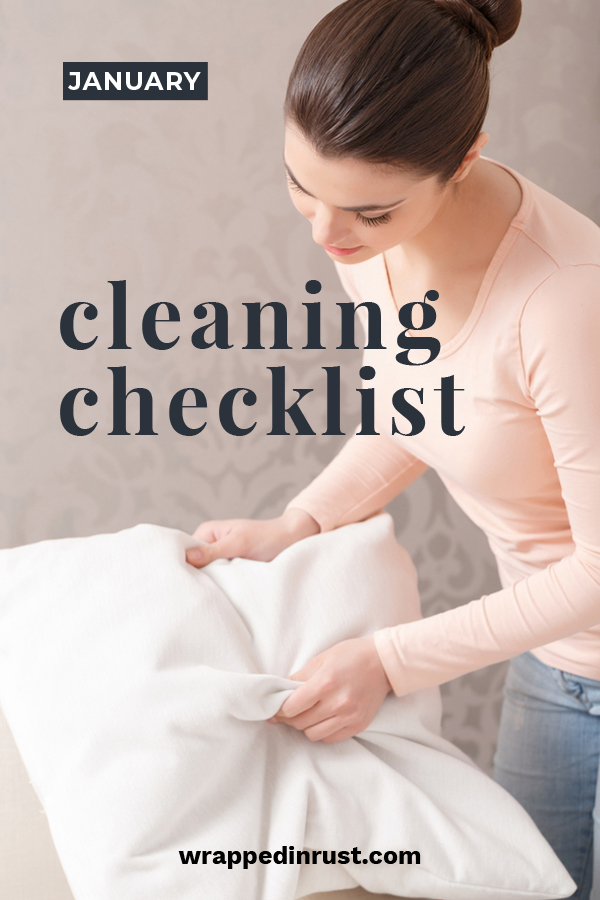 Cleaning can actually be fun because it's easy to create monthly checklists. Each month you can check off certain items after they have been cleaned. That is always a feel good moment. Here are a few things to clean in the month of January. #monthlcleaningchecklist #montlycleaningideas #thingstocleaninjanuary