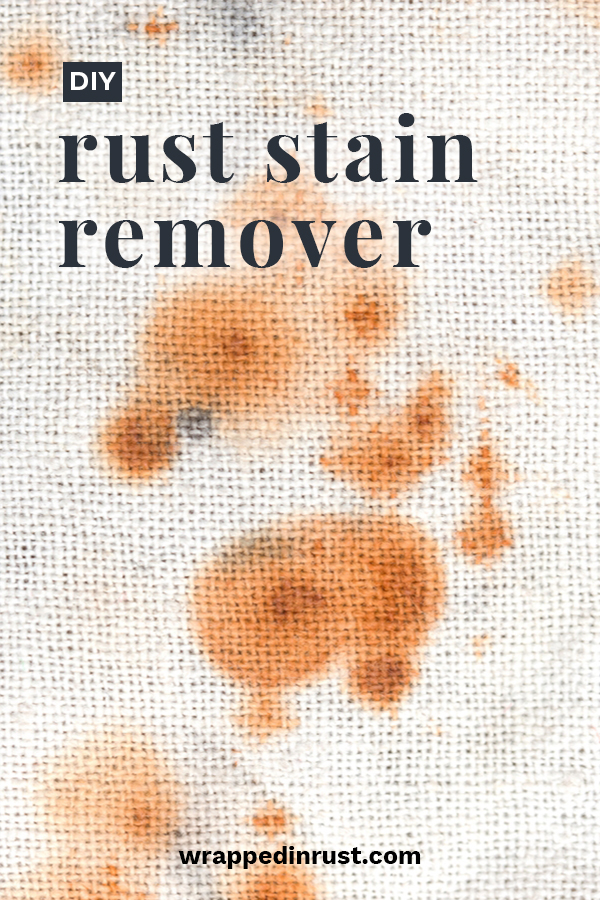 Rust is a pain in the butt. Nobody wants it, but it happens. So, how do we easily get rid of it? Your options mainly consist of buying expensive products full of potentially dangerous chemicals. Ew! Since I am not a fan of filling my home with chemicals, I wanted to share a DIY rust stain remover that actually works. It's cheap and easy to make as well. Read this post to learn more. #diyruststainremover #diycleaningproducts #easyruststainremovingDIY