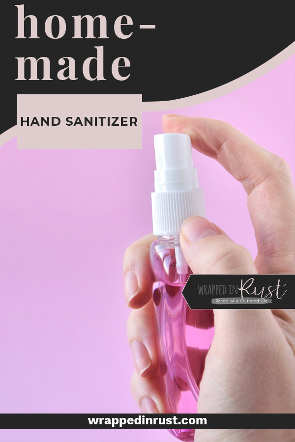 Complete COVID-19 defense requires hand sanitizer to fill in the gaps when hand-washing isn't possible. Make homemade hand sanitizer to help protect you and your family from Corona virus. #wrappedinrustblog #COVID19defense #homemadehandsanitizer