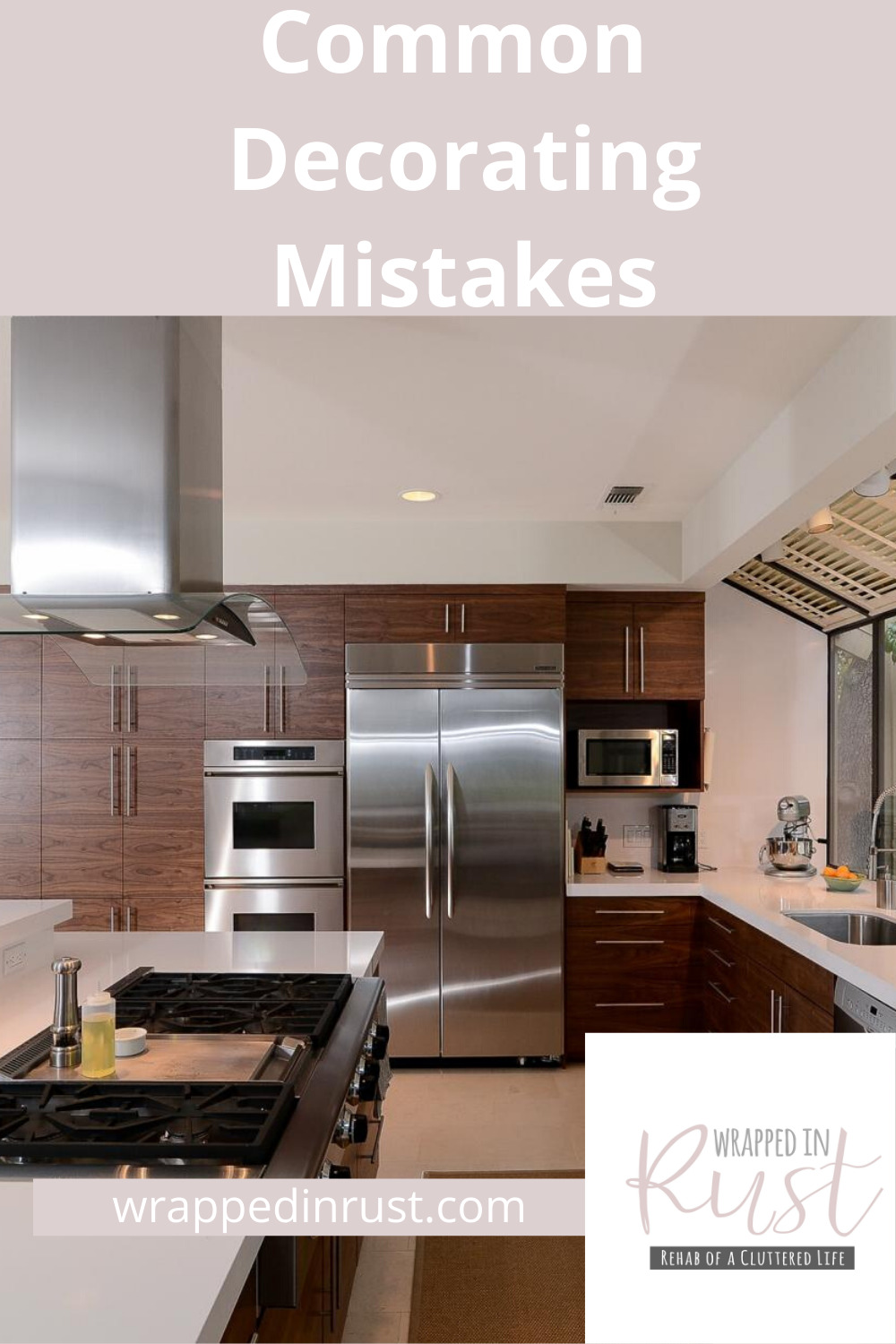Most of us are not interior decorators so we could all use a few pointers when it comes to our home decor decisions. There are many common decorating mistakes that make your house feel messy. Learn how to avoid a few of them by simply reading this post. #interiordesigntips #decoratingmistakes #howtoavoidcommondecoratingmistakes #wrappedinrustblog