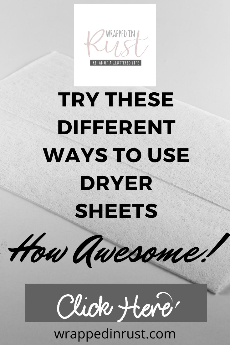 Can you use a dryer sheet to deodorize shoes? The short answer is yes and I'll show you how, plus 14 other things to do with them. #wrappedinrustblog #reusedryersheets #cleaningtips