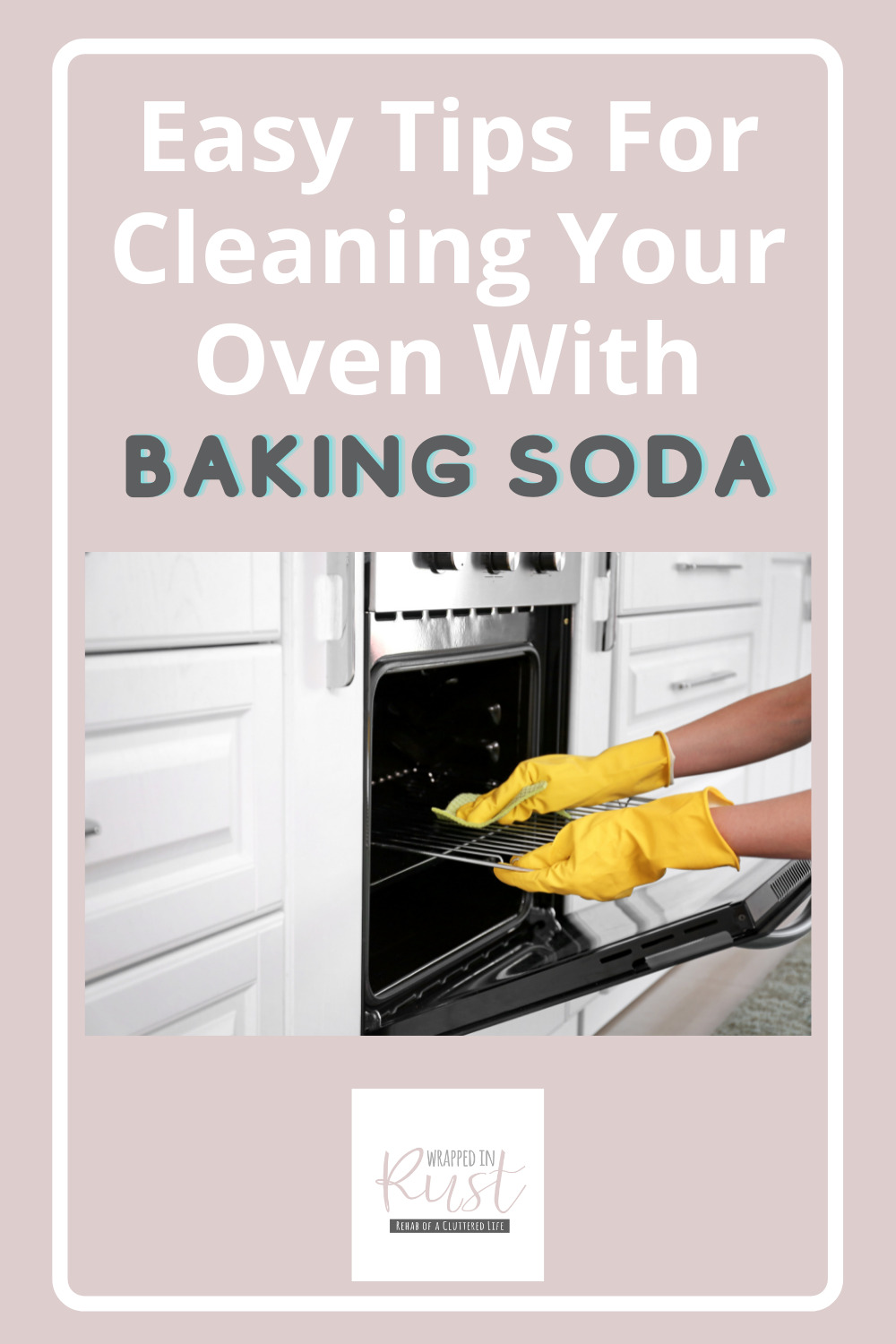 Wrappedinrust.com is filled full of genius cleaning ideas for all of your toughest messes and stains. Get ready for a big cleaning job! Find out the easiest way to clean your oven out--by using baking soda!