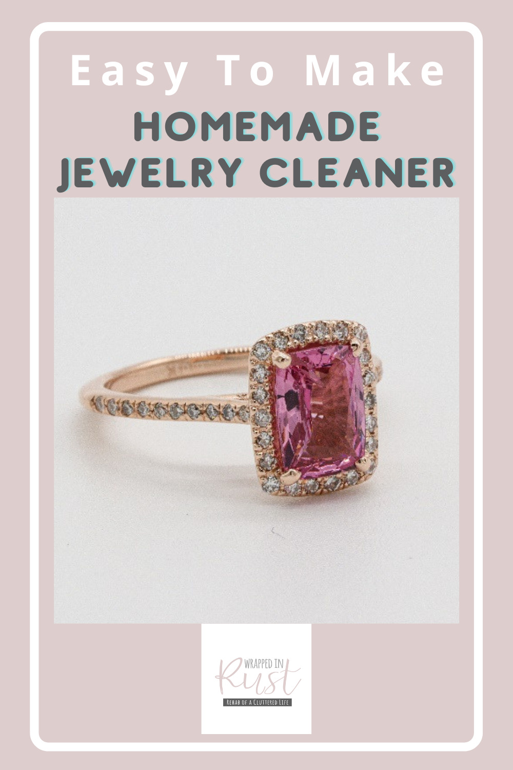 Wrappedinrust.com has creative solutions for tricky cleaning projects. Keep your jewelry spotless without overspending on store bought solution. Learn how to make jewelry cleaner all on your own!