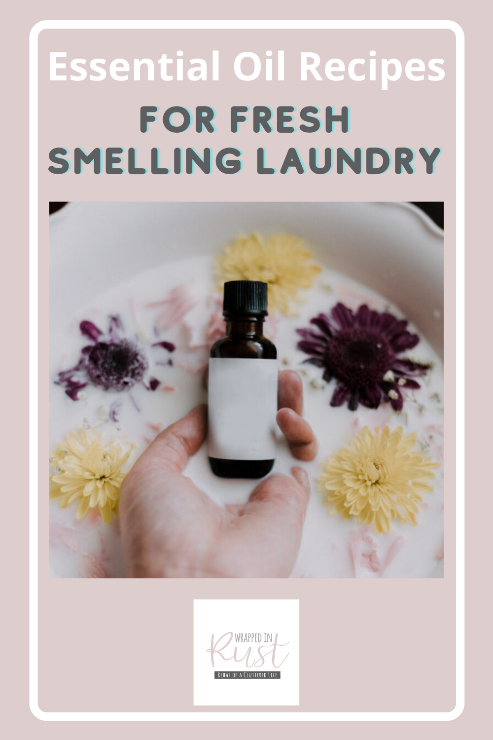 Wrappedinrust.com has creative solutions for tricky cleaning projects. Keep your laundry smelling fresh without harsh chemicals! Learn how you can add the perfect scent to your next load of laundry using essential oils!
