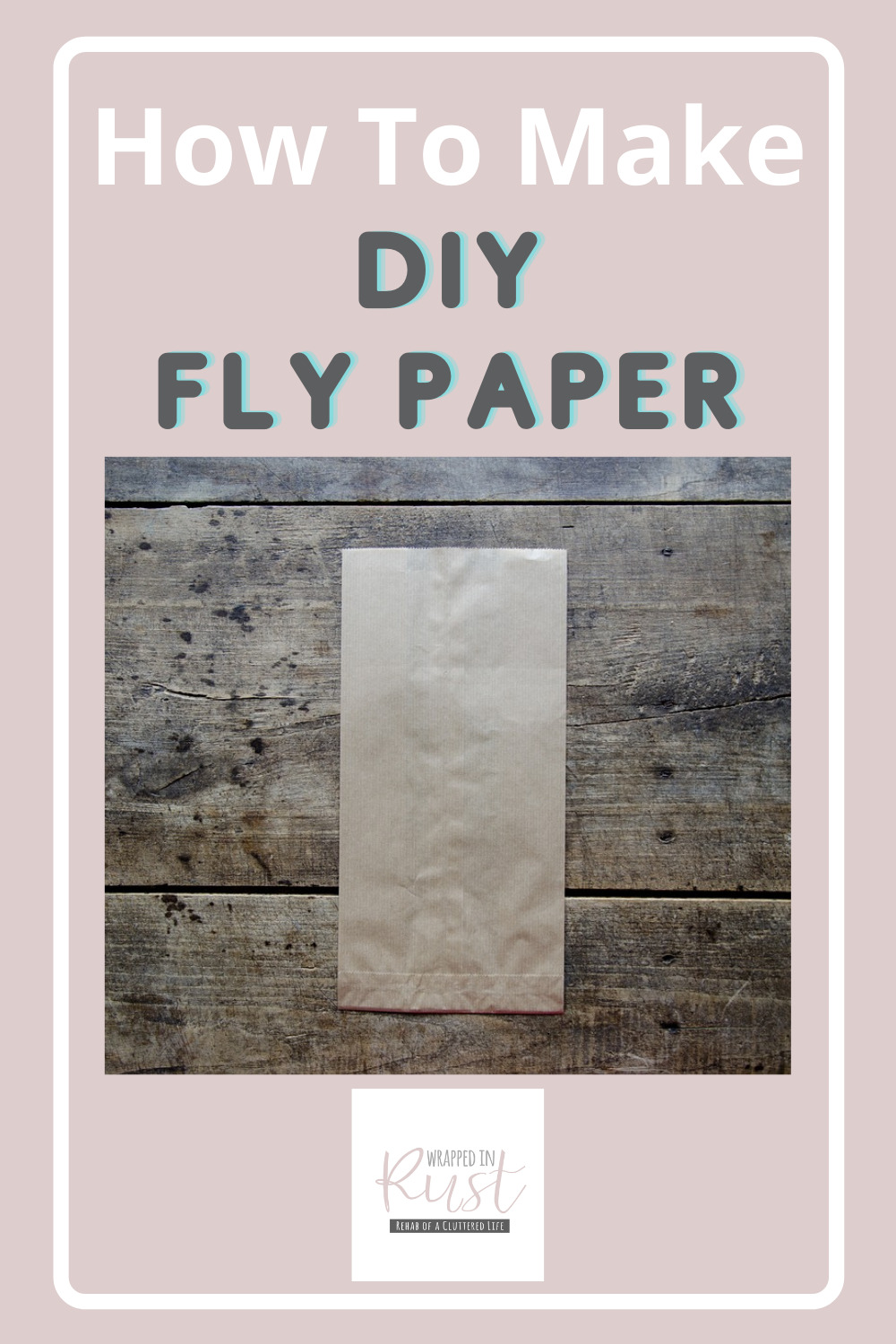 Wrappedinrust.com has creative solutions for tricky cleaning projects. Keep your jewelry spotless without overspending on store bought solution. Learn how to make fly paper all on your own!